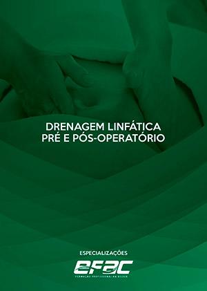Capa apostila Drenagem Linfática e Drenagem Pré e Pós-Operatório