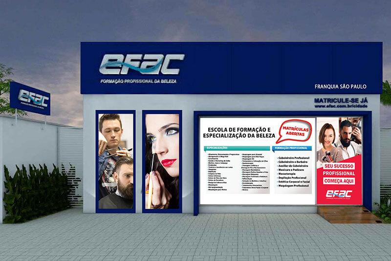 EFAC oferece cursos de formação e especialização na área da beleza com foco na preparação do aluno para o mercado de trabalho